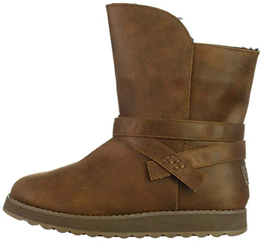 18996ed2db71f Skechers Keepsakes 2.0 Slouch Boots in Brown - Lyst