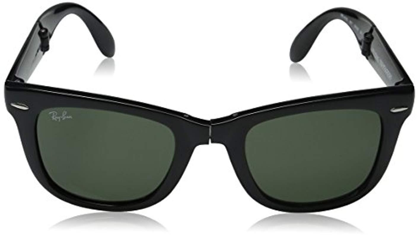35d644af20e Ray-Ban Wayfarer Sunglasses in Black for Men - Lyst