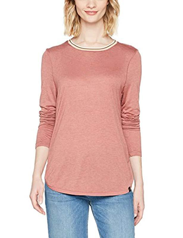 dea49737 Scotch & Soda Long Sleeve Relaxed Fit Lurex Top With Striped Rib ...