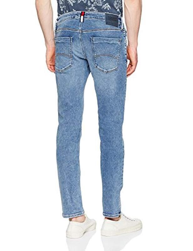 06df9037b1a Tommy Hilfiger Scanton Slim Jeans Black in Blue for Men - Lyst