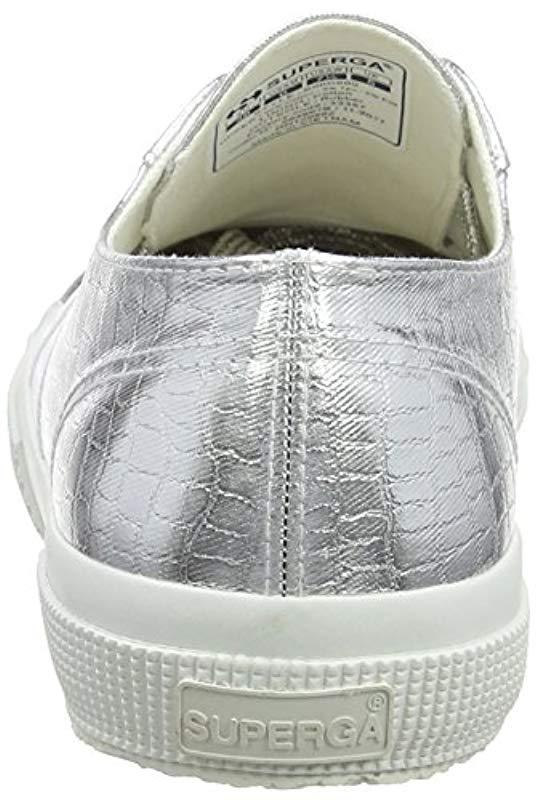 6d6a611d4a0b3 Superga 2750-cotmetembossedcoccow Trainers in Gray - Save 26% - Lyst