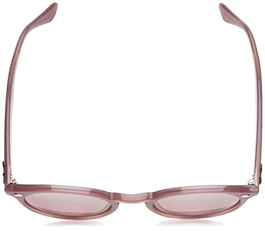 2bf3757e53e Ray-Ban - Keyhole Round Sunglasses In Opal Antique Pink Rb2180 62297e 49 -  Lyst. View fullscreen