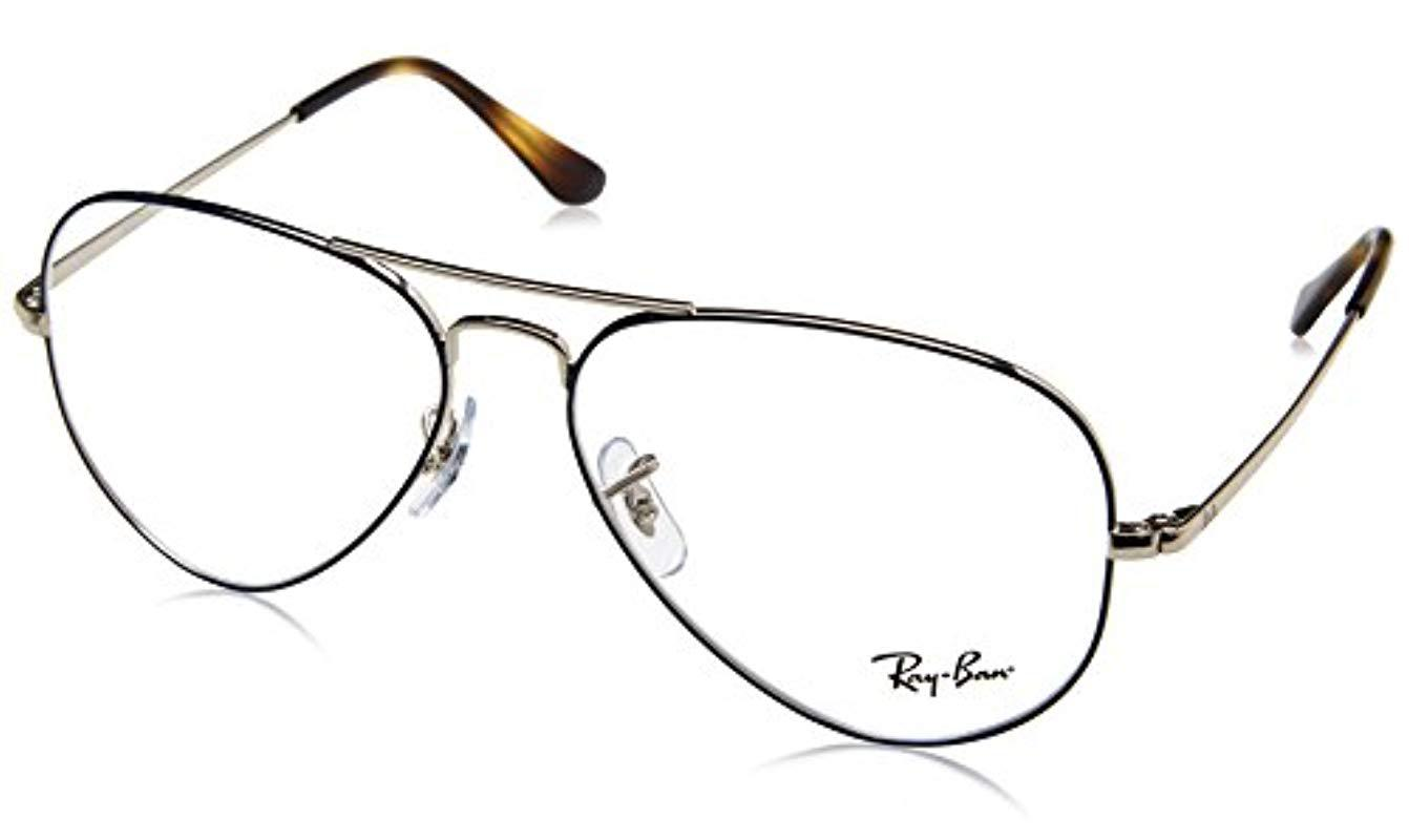 7d8b3dd52b Ray-Ban Rx6489 2970 55 Aviator Glasses In Silver On Blue Rx6489 2970 ...