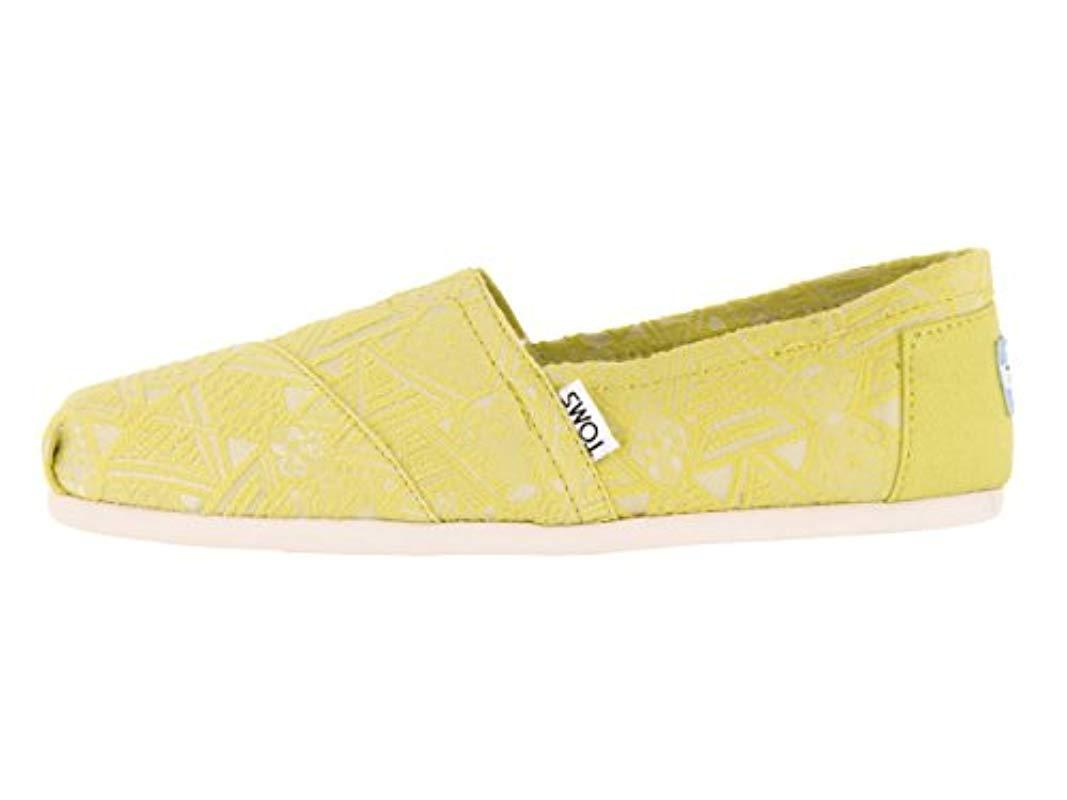731add2b14c01 Lyst - TOMS Navy Canvas Classic 001001b07-nvy in Yellow for Men