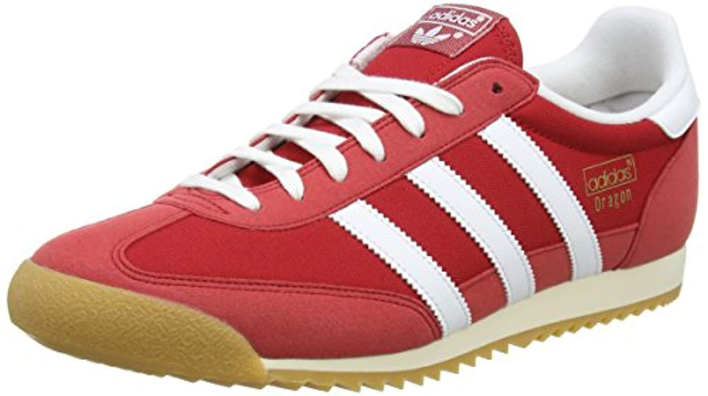 6a49fb56770 adidas Dragon Og Trainers in Red for Men - Lyst