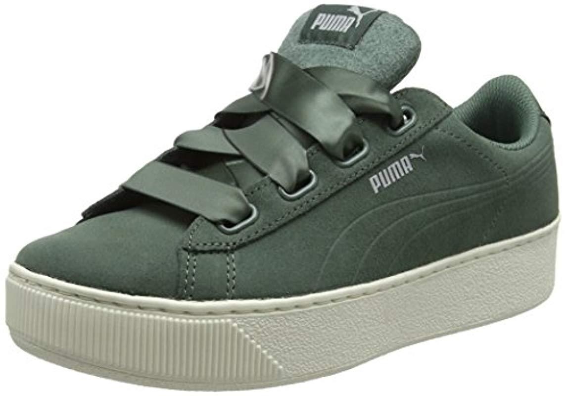 db357b7e85da PUMA Vikky Platform Ribbon S Low-top Sneakers in Green - Save 59% - Lyst