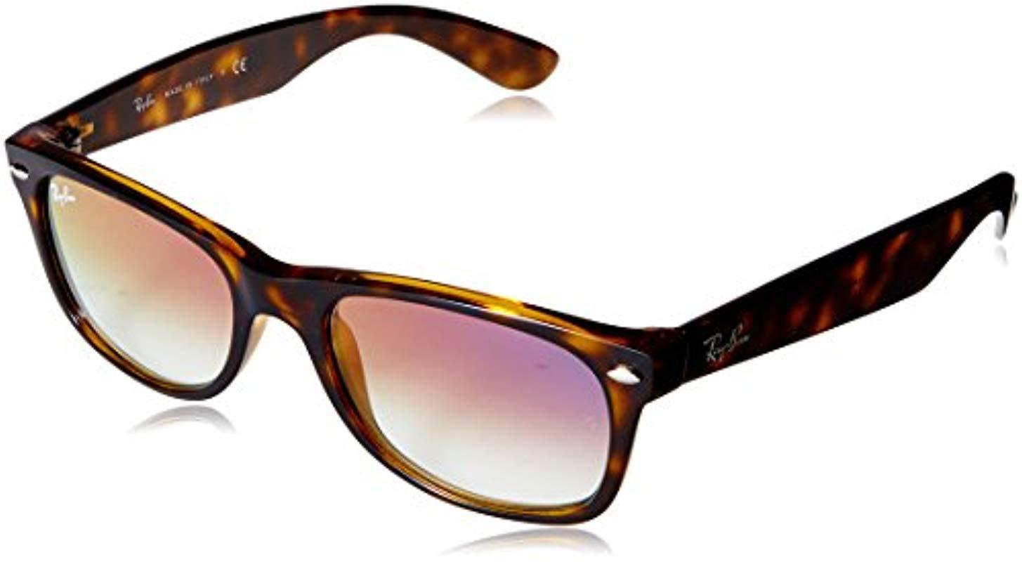 ce8001a90 Ray-Ban. Rayban Unisex's 0rb2132 710/s5 52 Sunglasses, Havana/clear Gradient  Violet