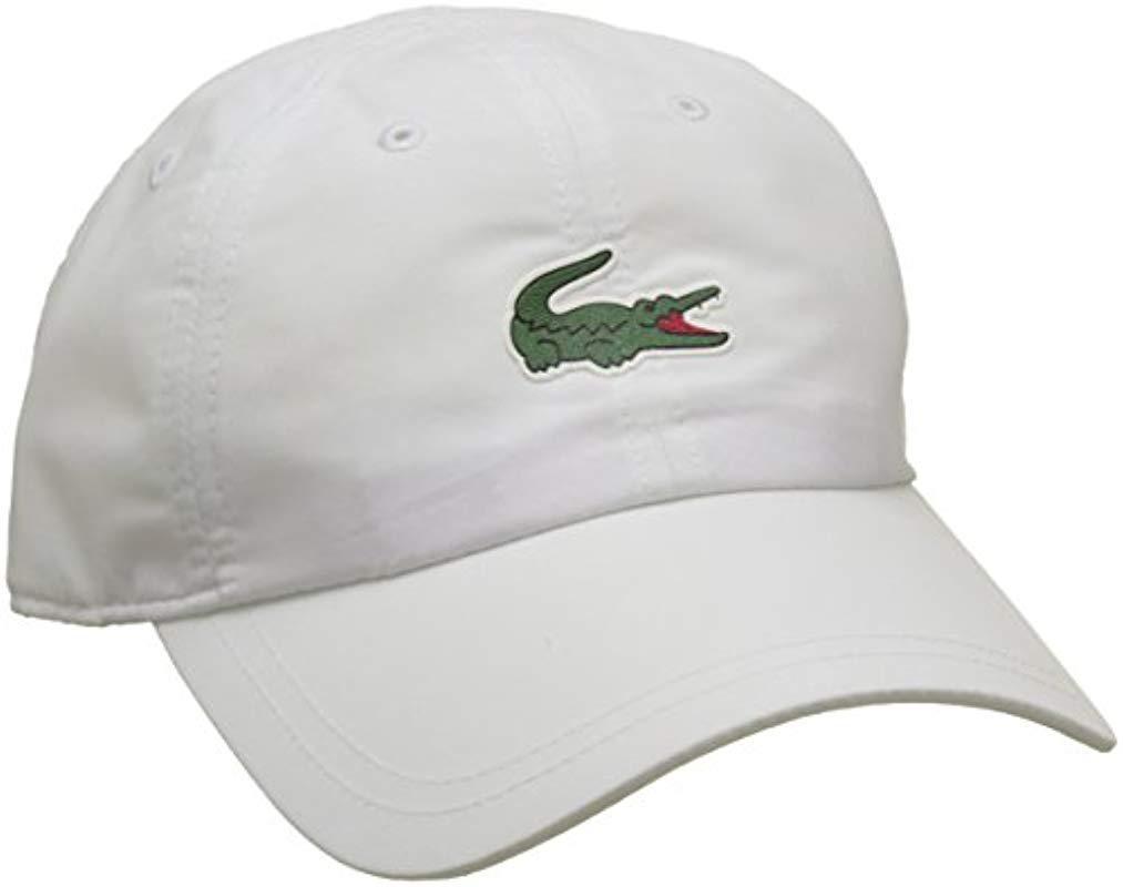 Lacoste Baseball Cap in White for Men - Lyst 5b4f3007fe28