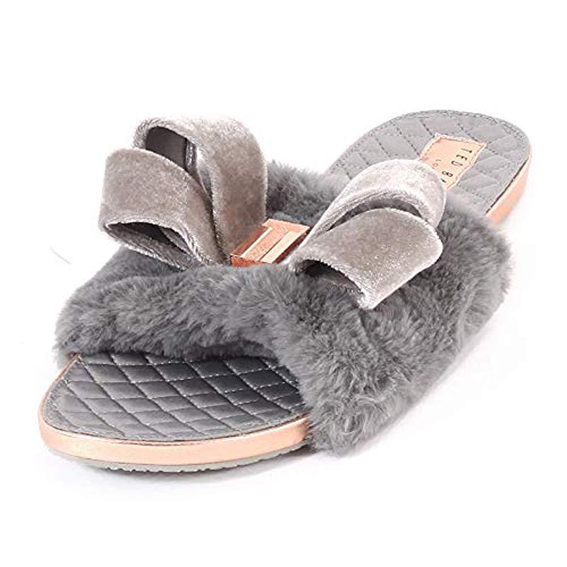 747521fd6 Ted Baker   s Blings Low-top Slippers in Gray - Lyst