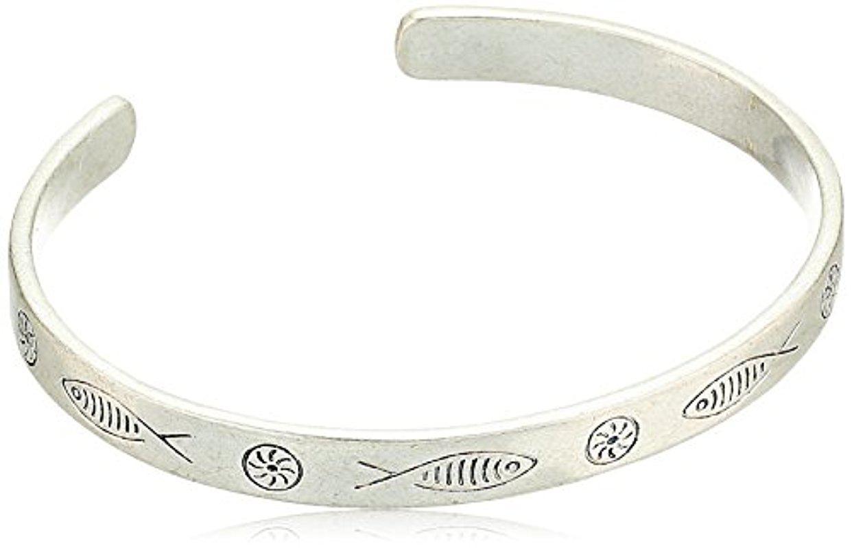 Lucky Brand Fish Etched Bracelet (Silver) Bracelet oJaKdp
