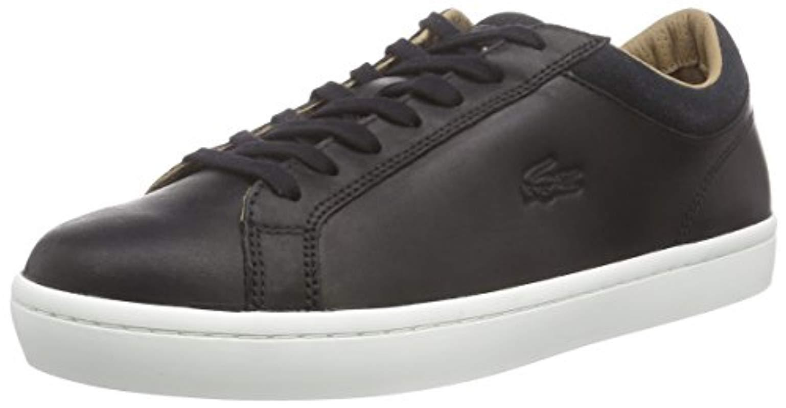 42f245788e1825 Lacoste Straightset Crf Low-top Trainer in Black for Men - Lyst