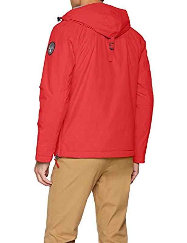 Napapijri Rainforest Winter Jacket in Red for Men - Save 48% - Lyst 9f96421c1fdd