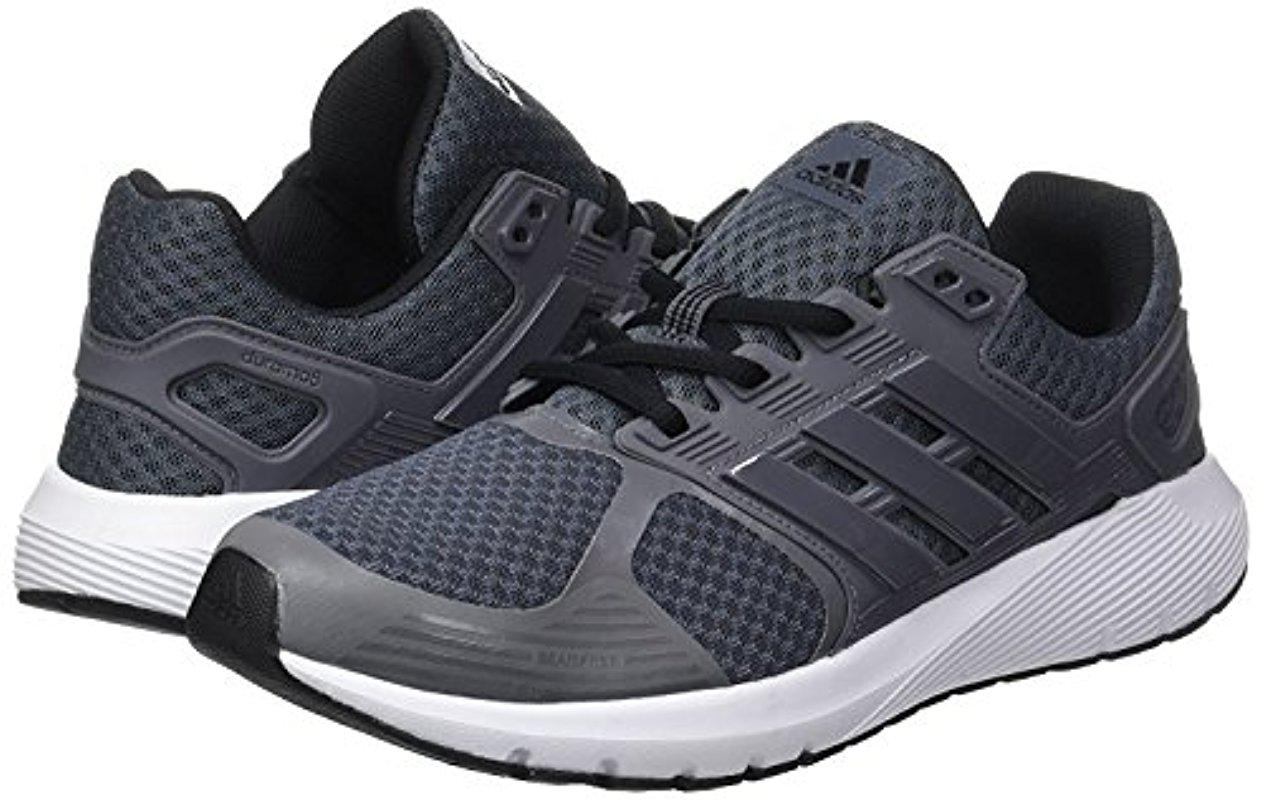 lyst adidas originali duramo 8 m di scarpe da corsa in grigio per gli uomini.