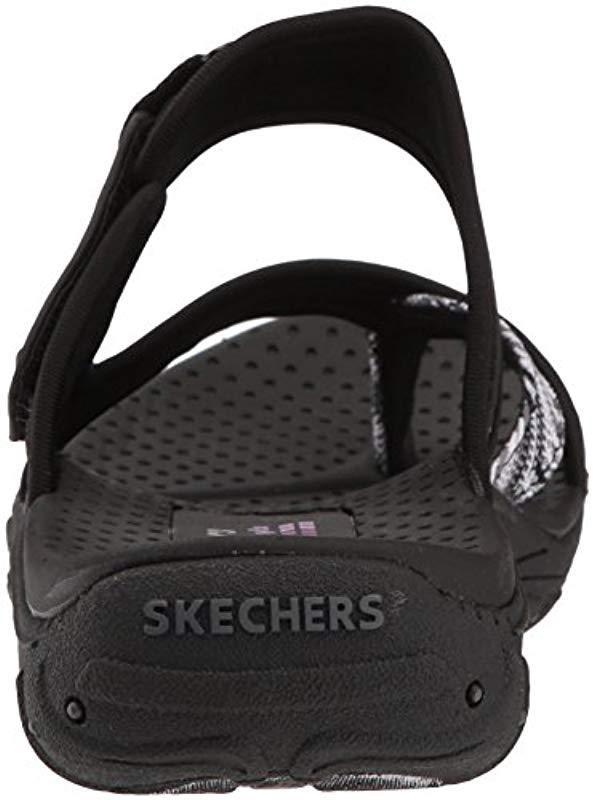 a5dce18b5468 Skechers - Black Reggae-Sparkle Swag-toe Thong Sandal Webbing - Lyst. View  fullscreen
