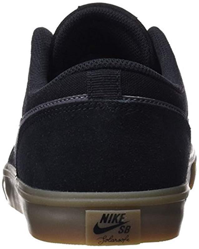 f24c3620dc Nike 's Sb Portmore Ii Solar Skateboarding Shoes in Black for Men - Lyst  nike