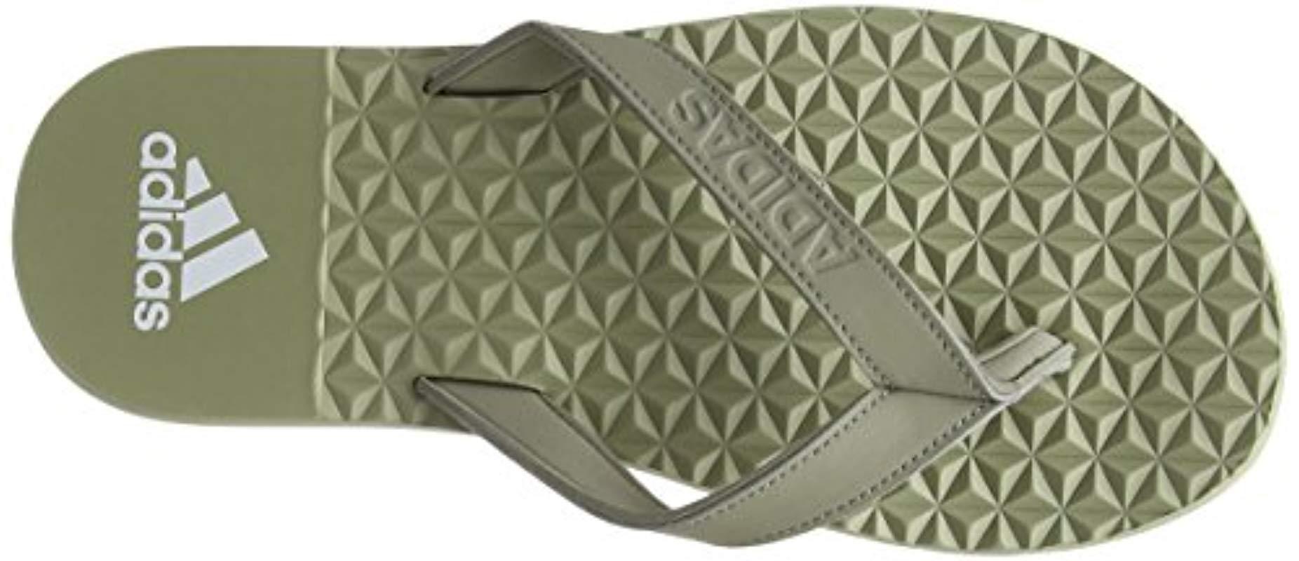 99263e4880c8 Adidas  s Eezay Soft Flip Flops in Green for Men - Lyst