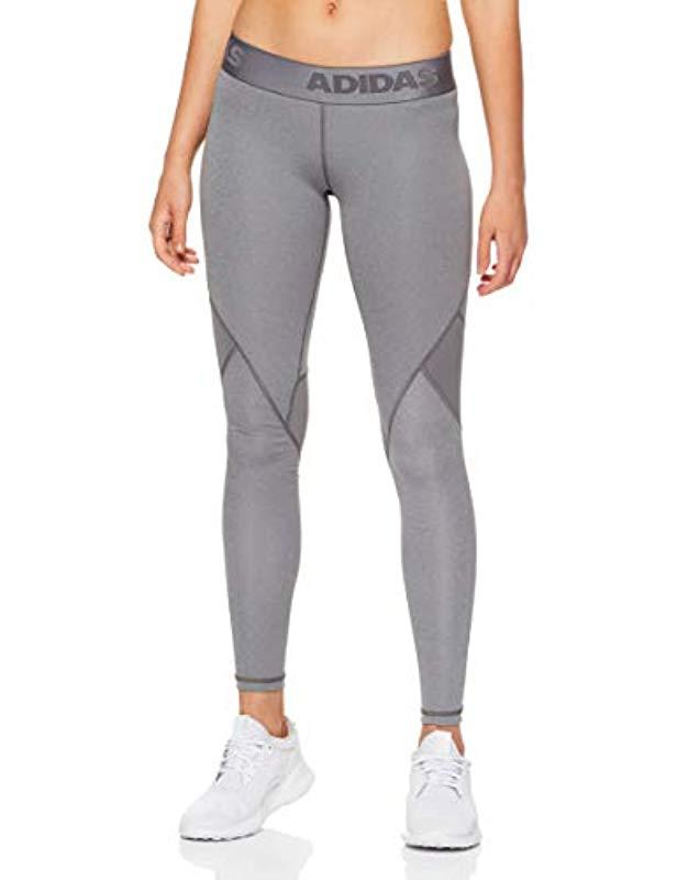 Adidas - Gray Alphaskin Sport Long Tights - Lyst. View fullscreen 1e9d1de448a