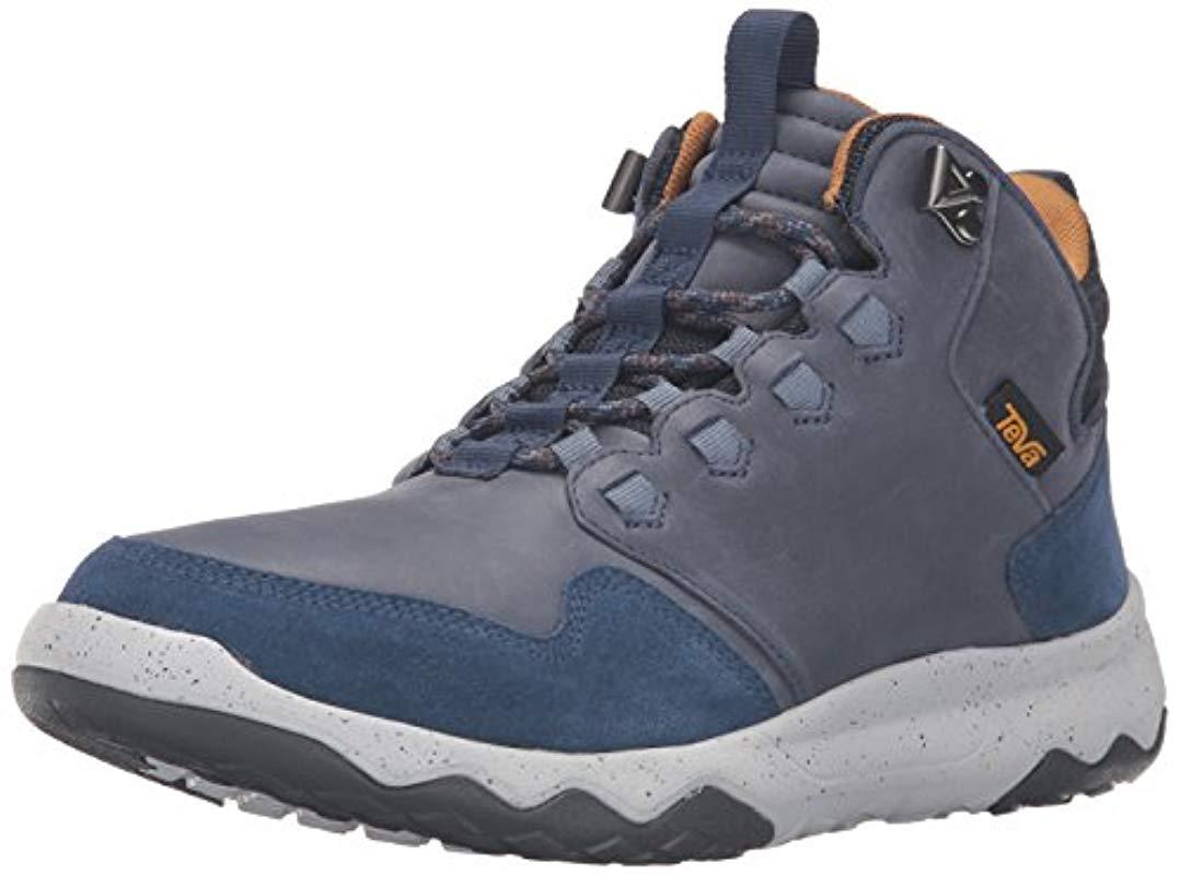 75e96b626b Teva M Arrowood Lux Mid Wp High Rise Hiking Boots in Blue for Men ...