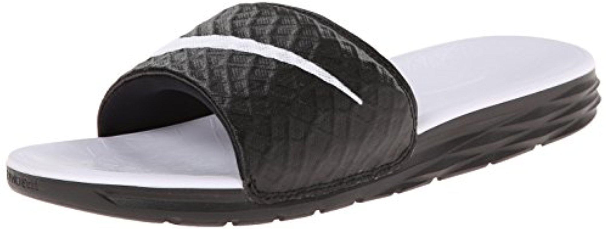 9adc51471 Lyst - Nike Benassi Solarsoft Black white Sandal 9 Women Us in Black ...