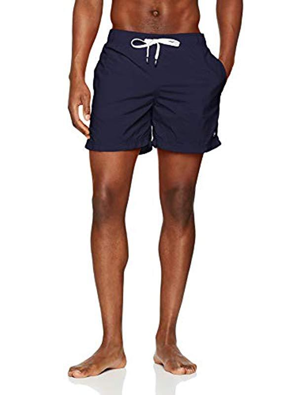 15de55c54db81b Tommy Hilfiger. Men s Blue Double Waistband Medium Drawstring Swim Trunks
