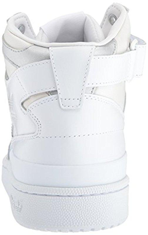 cheap for discount d64b5 28cd2 ... coupon code for lyst adidas originals shoes forum mid refined sneakers  white bdb12 c6ca6