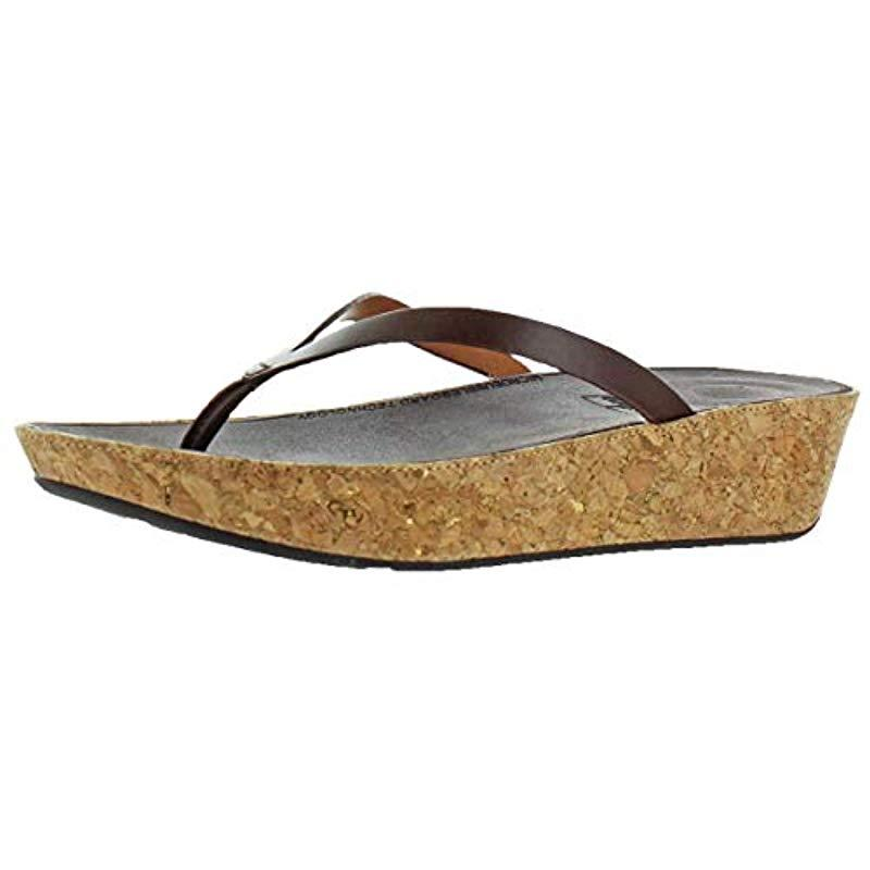 e42d0b57a Fitflop. Women s Linny Toe-thong Sandals-leather Wedge