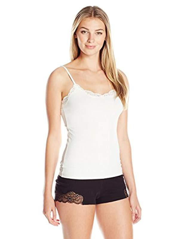 d512f0b600e Lyst - Only Hearts Delicious With Lace Adjustable Strap Cami in White