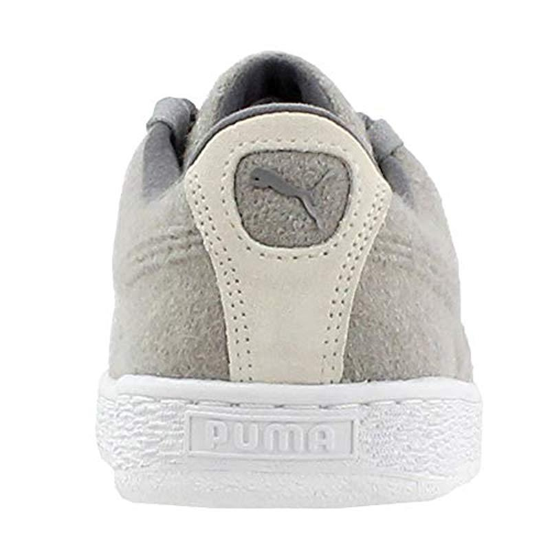 9f4290fa327 PUMA - Gray Basket Classic Embossed Wool Fashion Sneaker for Men - Lyst.  View fullscreen