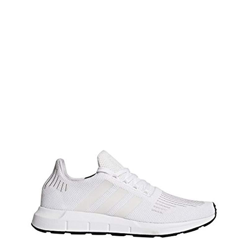 adidas Originals Men's SWIFT RUN Shoes,WHITECRYSTAL WHITEBLACK,9 Medium US