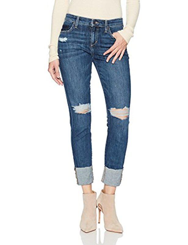 Womens The Smith Ankle Crop Mid-Rise Leandra Straight Jeans Joe's LaBLxqCR