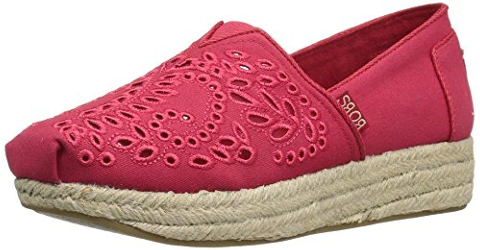 Skechers. Women's Red Bobs From Highlights Flexpadrille Wedge