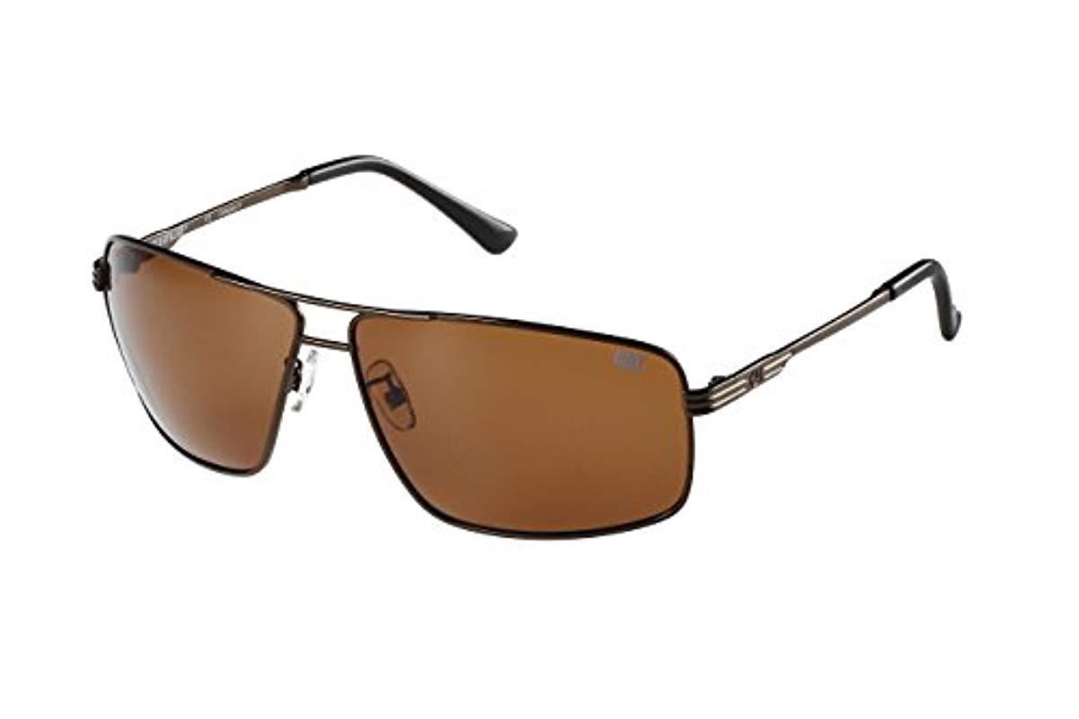 d98034b7ab Lyst - Caterpillar Shale Polarized Round Sunglasses in Brown