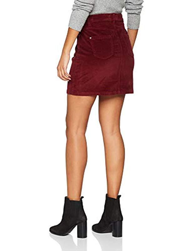 8becfc15cd Dorothy Perkins Berry Corduroy Skirt in Red - Save 33% - Lyst
