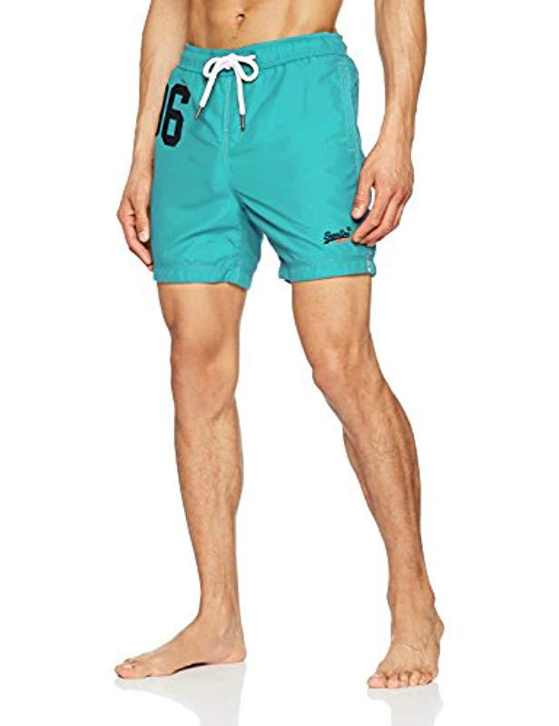 abddc504bd Superdry Water Swim Shorts in Blue for Men - Lyst