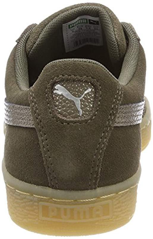 dfd345038853 PUMA - Green  s Suede Classic Bubble Wn s Trainers - Lyst. View fullscreen