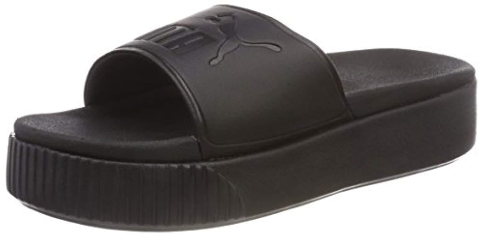 64be2635fcb PUMA Platform Slide Bold Wns Beach   Pool Shoes in Black - Save 56 ...