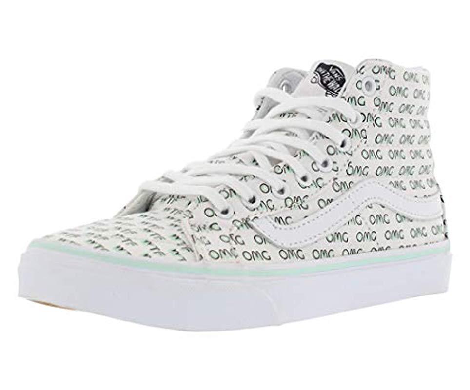 aa6a856d02667 Lyst - Vans Ua Sk8-hi Slim Hi-top Sneakers in White
