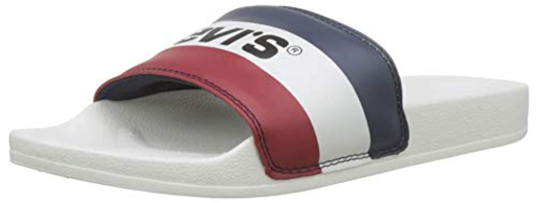 f69120ba92ba Levi s June Sportswear Flip Flops in White for Men - Save 12% - Lyst