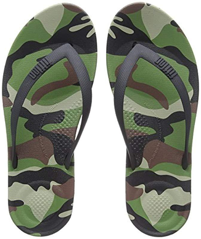 0ab8124e4e2 Fitflop - Green  s Iqushion Camo Open Toe Sandals for Men - Lyst. View  fullscreen