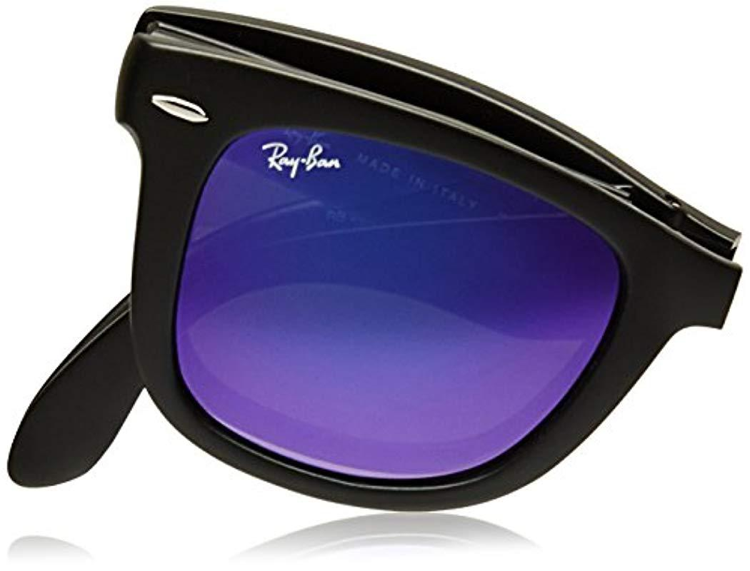 5f1bbb9b2 Ray-Ban - Black Rb4105 Wayfarer Folding Non-polarized Sunglasses 50mm -  Lyst. View fullscreen