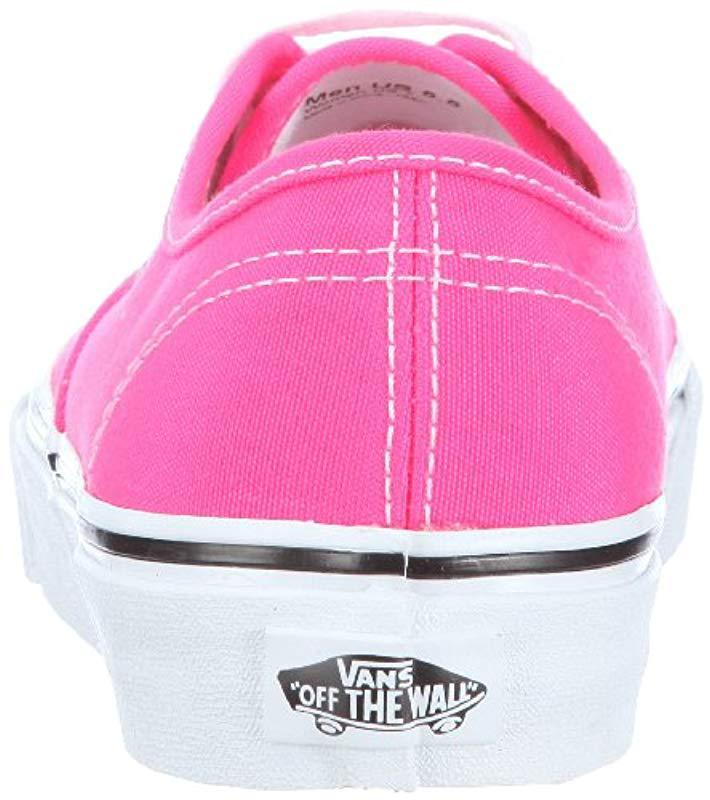7ca264e3daebd Vans Authentic (neon) Pink/true White, 's Low-top in Pink - Lyst