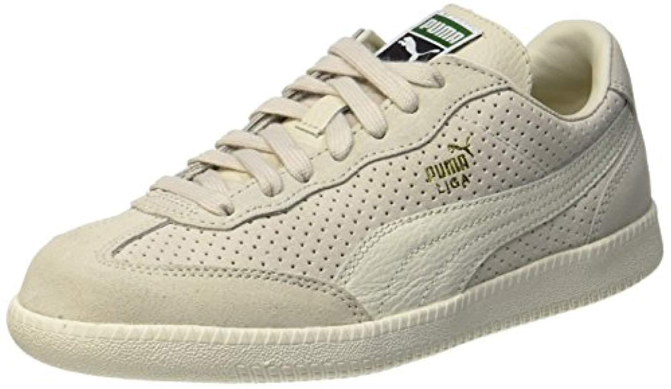 079e32810288a4 PUMA Unisex Adults  Liga Suede Perf Trainers in Natural for Men - Lyst