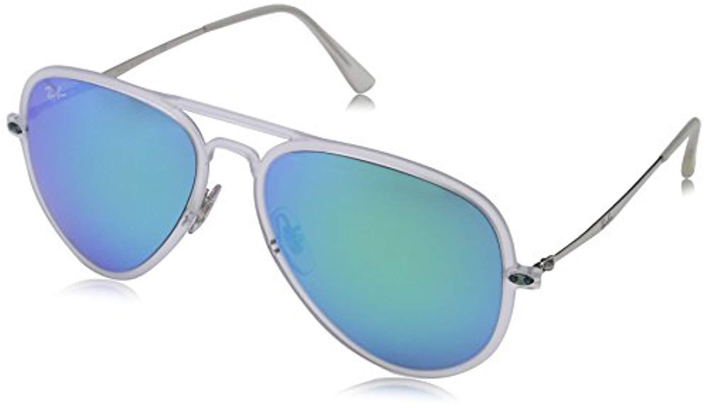 02bb1264c13 Ray-Ban Tech Light Ray Aviator Sunglasses In Matte Transparent Green ...