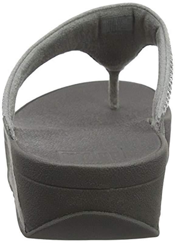23a92214ddc2 Fitflop - Black Slinky Rokkit Toe-post T-bar Sandals - Lyst. View fullscreen