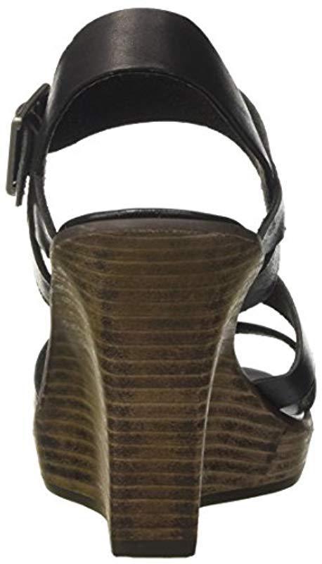 0c79050ff26 Timberland  s Cassanna Y-strap Sandaljet Black Swank Wedge Heels ...