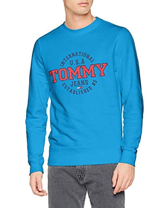 e96e31c5 Tommy Hilfiger Circular Crew Crew Neck Sweatshirt in Blue for Men - Lyst