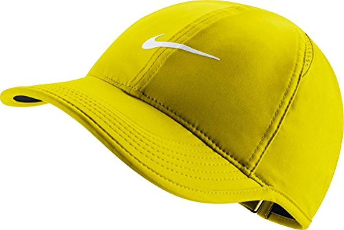 b613bb6a201 ... closeout lyst nike court aerobill featherlight tennis cap in yellow for  men 5677f 19241