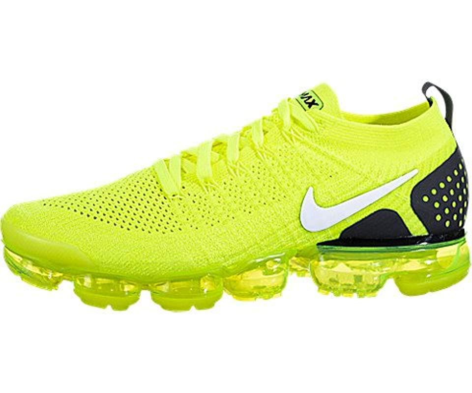 e4155f4e4c Nike Air Vapormax Flyknit 2 Fitness Shoes in Yellow for Men - Lyst