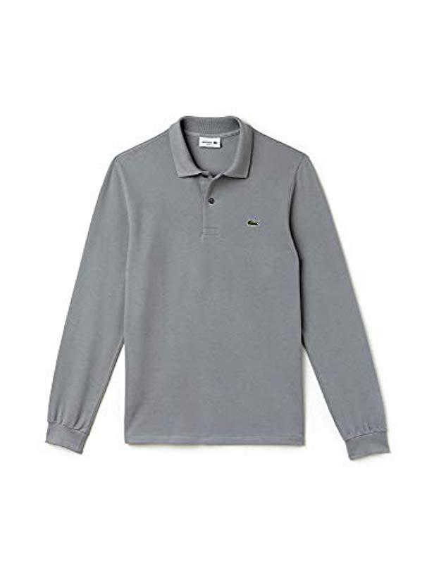 0a4d384a91f40 Lacoste Long Sleeve Classic Pique L.12.12 Original Fit Polo Shirt in ...