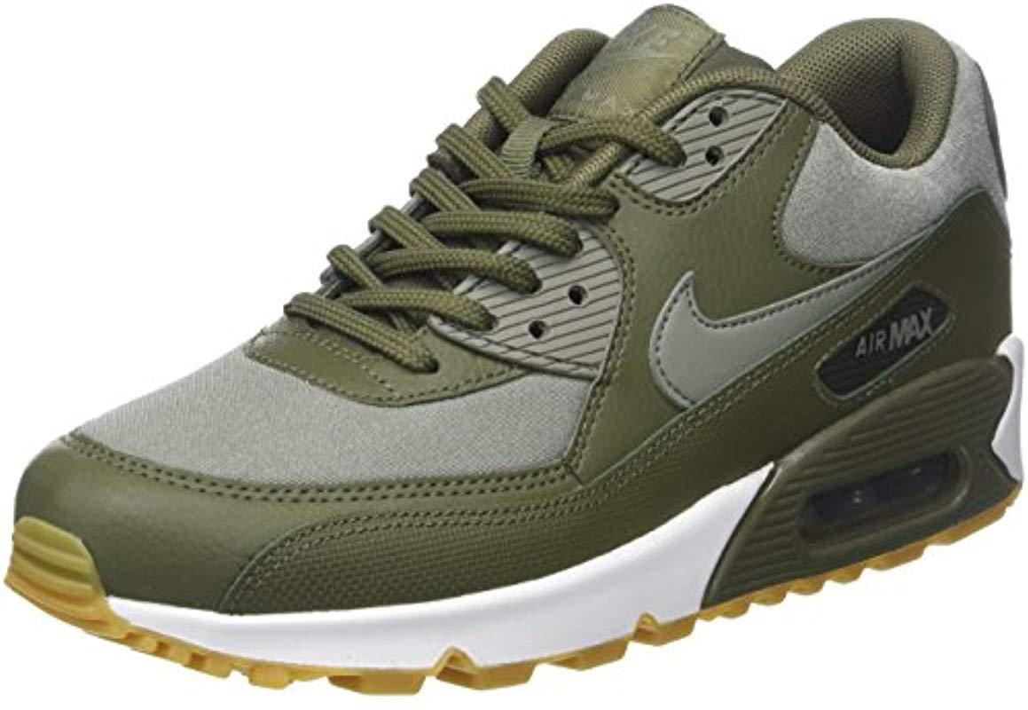 new style f9dac f2926 Nike Air Max 90 Low-top Sneakers, Green (med Olivedark Stucc